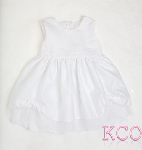 Lace Belt Dress White ~ girls dress